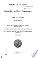 Report of Decisions of the Industrial Accident Commission of the State of California for the Year