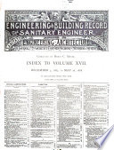 The Engineering Record Building Record And Sanitary Engineer