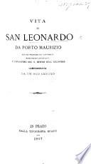 Vita di San Leonardo da Porto Maurizio      compendiata da un suo devoto