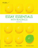 Essay Essentials with Readings 6e