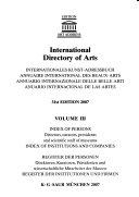 International Directory of Arts 2007 2008 3 Vol  Set