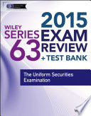 Wiley Series 63 Exam Review 2015   Test Bank
