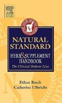 Natural Standard Herb   Supplement Handbook
