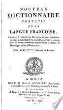 Nouveau Dictionnaire portatif de la langue fran  aise