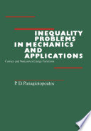 Inequality Problems In Mechanics And Applications book