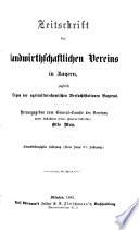 Zeitschrift des Landwirthschaftlichen Vereins in Bayern