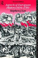 Aspects of European History 1494 1789