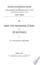 Drei- und vierzeitige Längen bei Euripides
