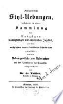 Franz  sische Styl Uebungen