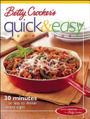 Betty Crocker S Quick Easy Cookbook