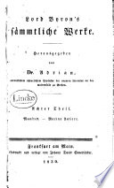 Lord Byron's sämmtliche Werke: Manfred, uebers. von Adrian