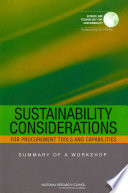 Sustainability Considerations for Procurement Tools and Capabilities:
