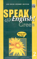 Speak English  Green 2 With Audiocassette