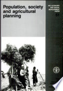 Population  Society and Agricultural Planning