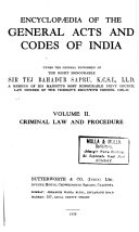 Encyclopædia of the General Acts and Codes of India