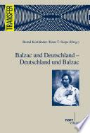 Balzac und Deutschland -- Deutschland und Balzac