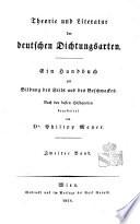 Theorie und Literatur der deutschen Dichtungsarten