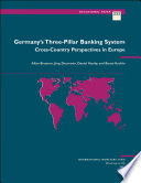 Germany S Three Pillar Banking System Cross Country Perspectives In Europe