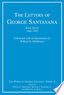 The Letters of George Santayana  Book Eight  1948 1952
