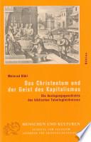Das Christentum und der Geist des Kapitalismus