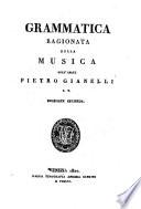 Grammatica ragionata della musica