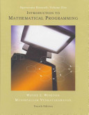 Introduction To Mathematical Programming book