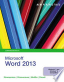 New Perspectives on Microsoft Word 2013  Comprehensive