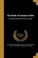 BK OF COMMON ORDER