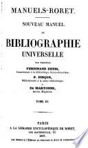 Nouveau manuel de bibliographie universelle