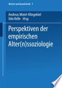 Perspektiven der empirischen Alter(n)ssoziologie