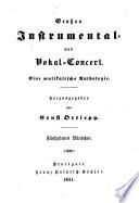 Großes Instrumental- und Vokal-Concert