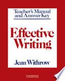Effective Writing Teacher s Manual