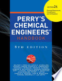 Perry S Chemical Engineers Handbook Eighth Edition