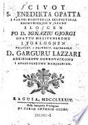 Scivot s. Benedikta opatta i Pavvo-Roditaglja Skupsctinaa redovnickjeh k Sapadu sloscen