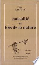 illustration du livre Causalité et lois de la nature