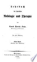 Lehrbuch der speciellen Nosologie und Therapie