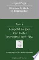 Leopold Ziegler, Karl Hofer