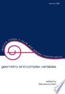 Geometry and Complex Variables