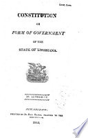 Constitution Or Form of Government of the State of Louisiana