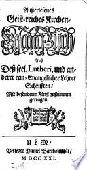 Au  erlesenes Geist reiches Kirchen Gesang Buch