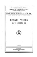 Retail prices 1913 to December  1922