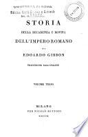 Storia della decadenza e rovina dell Impero Romano di Edoardo Gibbon  Traduzione dall inglese