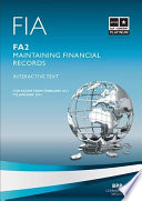 FIA Maintaining Financial Records   FA2 Study Text 2013