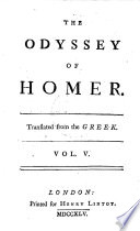 The Odyssey of Homer   Translated from the Greek