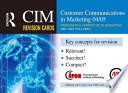CIM Revision Cards  Customer Communications in Marketing 04 05