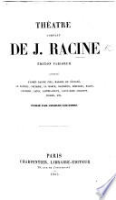 Théâtre complet ... Précédé d'une notice par M. Auger. With a portrait