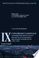 IX Congresso nazionale S.I.P.SA. La psicologia della salute tra ricerca e intervento nei servizi sociosanitari, nella comunità, nei luoghi di lavoro e nella scuola