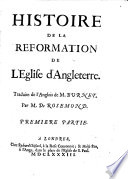 Histoire de la Réformation de L'Église D'Angleterre