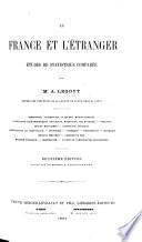 La France et l'Étranger, études de statistique comparée
