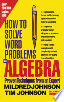 How to Solve Word Problems in Algebra  2nd Edition